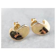 Sculptural 18K Stud Earrings