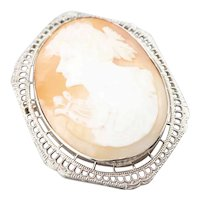 Greek Muse Polymnia Cameo Brooch or Pendant