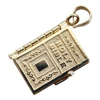 Moving Parts Vintage Holy Bible Charm