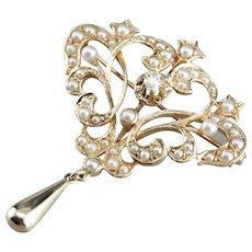 Belle Époque Old European Cut Diamond Brooch or Pendant