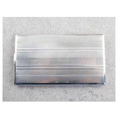 R. Blackinton Vintage Sterling Silver Striped Cigarette Case