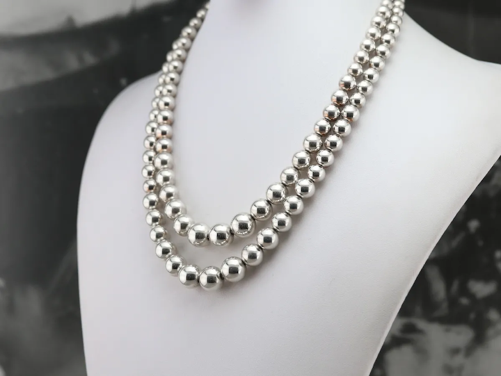 Tiffany And Co 925 Sterling Silver Double Strand Necklace Market Square Jewelers Ruby Lane