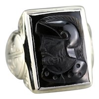 Men's Black Onyx Cameo Ring