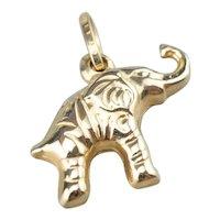 Raised Trunk, Lucky Elephant Pendant or Charm