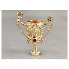 Vintage Ruby Chalice Charm