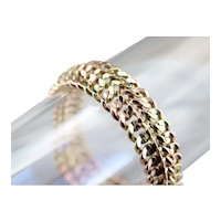 High 18 Karat Gold Chain Link Bracelet