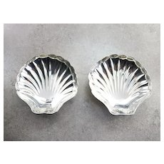 Tiffany & Co Set of Two Scallop Shell Dishes