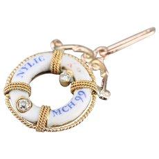 Mix Era Life Ring Diamond Pendant
