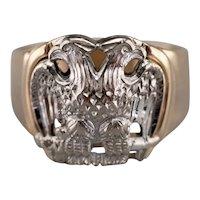 Men's Masonic Double Headed Eagle Ring