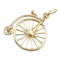 18K Penny-farthing Moving Charm