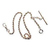 Vintage Rope Twist Pocket Watch Chain
