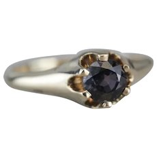 Upcycled Color Changing Garnet Unisex Ring