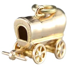 Westward HO! Vintage Covered Wagon Charm