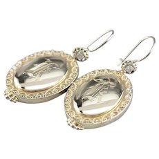 Upcycled Diamond Monogramed Earrings