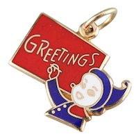 Christmas Greetings Elf Charm