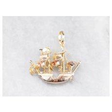 Portuguese Caravel Ship Pendant