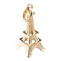 Large 18 Karat Gold Eiffel Tower Pendant