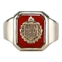 "Vintage Carnelian ""GCHS"" Class Ring"