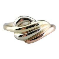 Tri-Color 14 Karat Gold San Marco Style Ring
