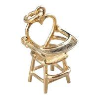 Heart High Chair Charm