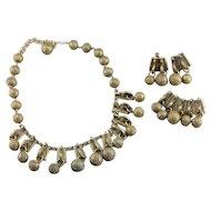 Vintage Brass Costume Jewelry Set
