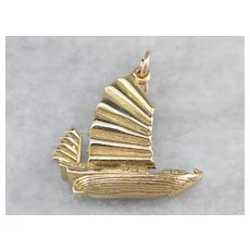 Chinese Junk Ship Charm