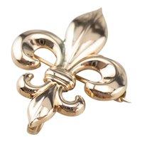 Vintage Fleur De Lis Watch Pin