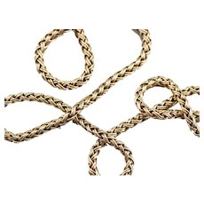 Stunning Finely Woven Chain necklace