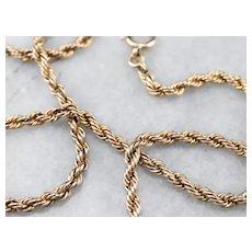 Vintage Rope Twist Chain