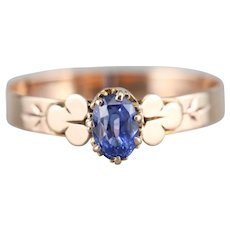 Sweet Sapphire Solitaire Ring