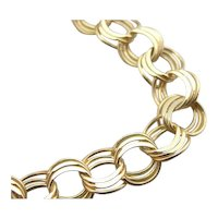 Round Triple Link Charm Bracelet