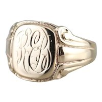 "Antique ""REB"" Monogram Signet Ring"