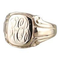 """Antique """"REB"""" Monogram Signet Ring"""