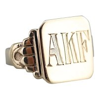"""Early Retro """"AKF"""" Signet Ring"""