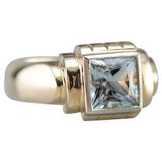 Aquamarine Men's Statement Ring