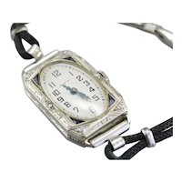 Art Deco Diamond Elgin Wrist Watch
