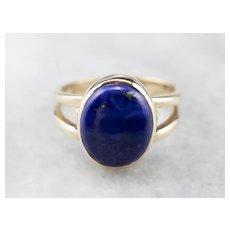 Vintage Lapis Solitaire Ring
