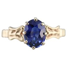 Lovely Upcycled Sapphire Solitaire Ring