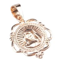 Lovely 14 Karat Rose Gold Virgin Mary Medallion