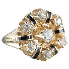 Old Mine Cut Diamond Cocktail Ring