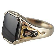 Retro Hematite Class Ring, Class of 1935