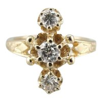 Three Stone Diamond Ladies Ring