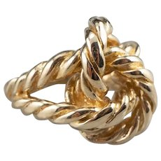 Chunky 14K Rope Knot Ring