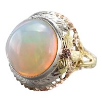 Vintage Opal Filigree Cocktail Ring