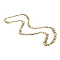 Vintage Double Layer Chain Necklace with Decorative Clasp