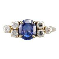 Stunning Sapphire and Diamond Anniversary Ring