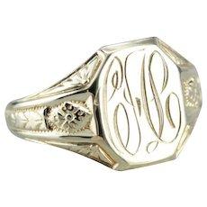 Art Nouveau Era Signet Ring