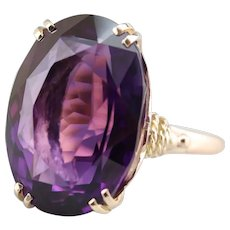 Stunning Upcycled Amethyst Cocktail Ring