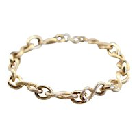 High Karat Figure Eight Link Chain Bracelet