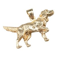 Retriever Dog Solid Pendant